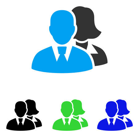 People vector pictogram. Style is flat graphic people symbol using some color variants. Illustration