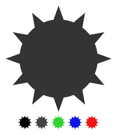 Bacterium flat vector pictograph with colored versions. Color bacterium icon variants with black, gray, green, blue, red.