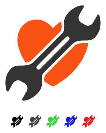 Heart Surgery flat vector pictograph with colored versions. Color heart surgery icon variants with black, gray, green, blue, red.