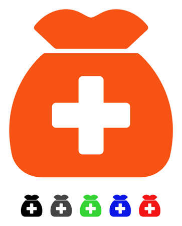 Medical Capital Fund flat vector pictogram with colored versions. Color medical capital fund icon variants with black, gray, green, blue, red.