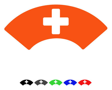 Medical Visor flat vector pictograph with colored versions. Color medical visor icon variants with black, gray, green, blue, red.