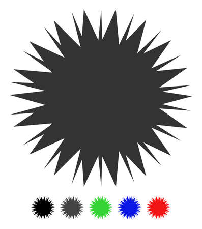 Microbe Spore flat vector pictogram with colored versions. Color microbe spore icon variants with black, gray, green, blue, red. Illustration