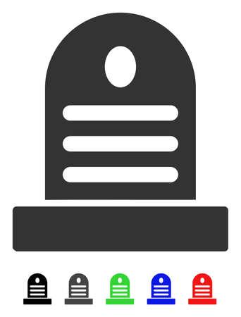 삭제 표시 평면 벡터 그림 색이 지정된 버전으로. 검은 색, 회색, 녹색, 파란색, 빨간색 색 삭제 표시 아이콘 변형. 일러스트