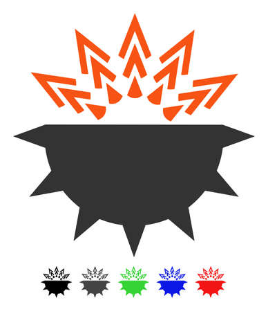 Viral Structure flat vector pictograph with colored versions. Color viral structure icon variants with black, gray, green, blue, red. Illustration