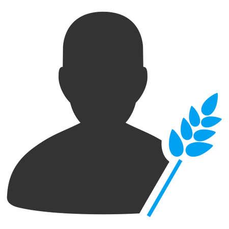 countryman: Agriculture Farmer vector pictograph.