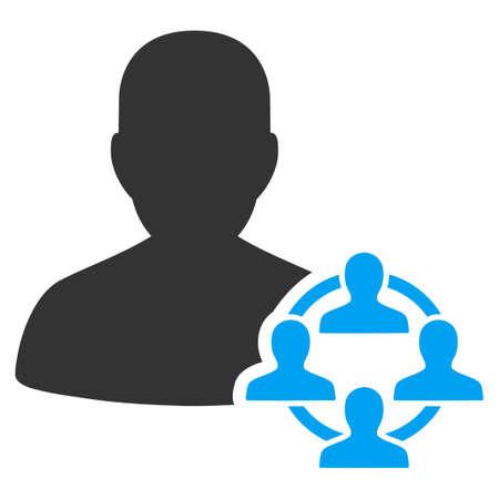 Pictogramme vectoriel politique. Le style est un symbole plat bicolore, bleu et gris, fond blanc. Banque d'images - 82761863