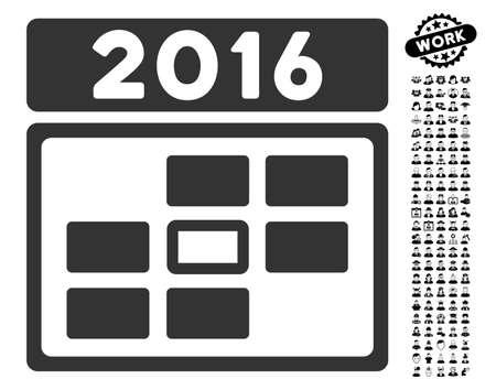 2016 Date icon with black bonus professional graphic icons.