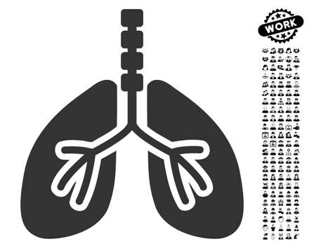 Breathe System Flat Vector Pictogram With Colored Versions Color