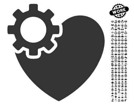 검은 보너스 남자 pictograph 컬렉션 심장 수술 아이콘. 심장 수술 벡터 일러스트 레이 션 스타일 웹 디자인, 응용 프로그램 사용자 인터페이스에 대 한 평면 회색 아이코 닉 기호입니다.