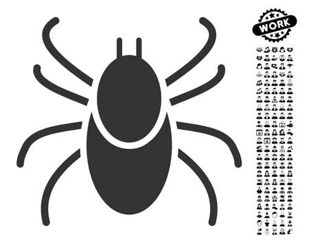 Mite icon with black bonus professional clip art. Mite vector illustration style is a flat gray iconic element for web design, app user interfaces.