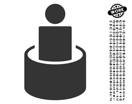 quarantine: Patient Isolation icon with black bonus profession clip art. Patient Isolation vector illustration style is a flat gray iconic symbol for web design, app user interfaces.