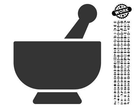 モルタル黒ボーナス仕事アイコンとアイコンを設定します。モルタル ベクトル イラストのスタイルは、アプリケーション ユーザー インターフェイ