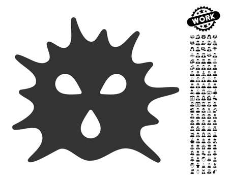 Virus Structure icon with black bonus professional images. Virus Structure vector illustration style is a flat gray iconic symbol for web design, app user interfaces.
