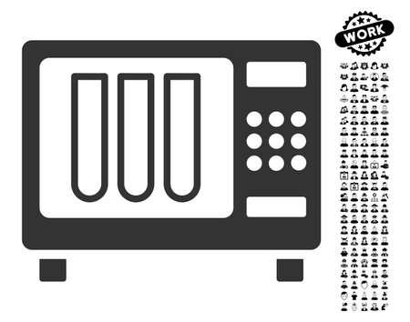 Icône de stérilisateur avec des éléments de design de profession bonus noir. Le style d'illustration vectorielle stérilisateur est un symbole iconique gris plat pour la conception web, interfaces utilisateur app.