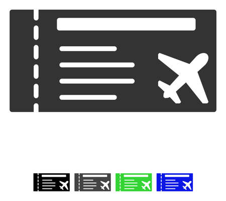 allowed to pass: Airticket flat icon. Illustration