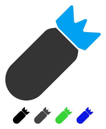 항공 폭탄 플랫 그림입니다.