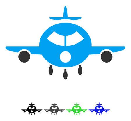 Cargo aircraft flat icon.