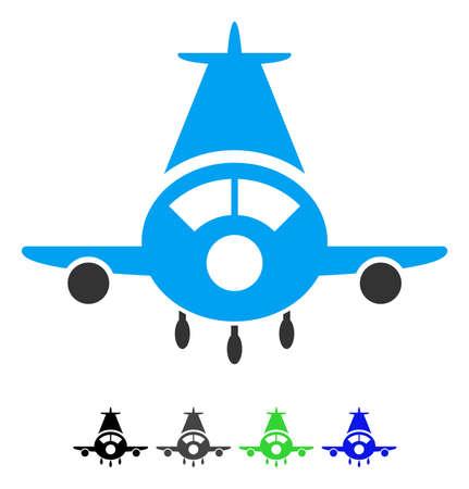 Cargo plane flat pictogram. Illustration