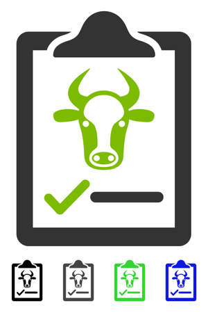 indent: Cattle Contract flat vector pictograph. Cattle Contract icon with gray, black, blue, green color versions.