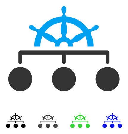 Regel structuur platte vector pictogram. Gekleurde regelstructuur grijze, zwarte, blauwe, groene pictogramversies. Vlakke pictogrammen voor grafisch ontwerp. Stock Illustratie