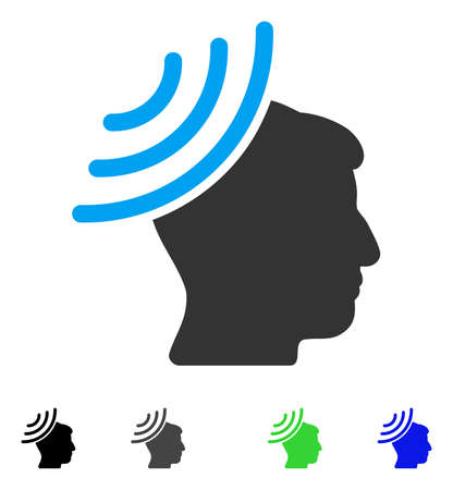 recipient: Radio Reception Mind flat vector icon. Flat icons on a white background.