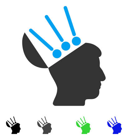 Open Mind Interface flat vector pictograph. Flat icons on a white background.
