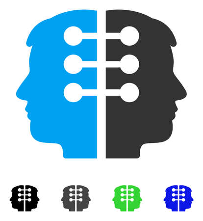 Dual Head Interface flat vector pictograph. Flat icon style for web design.