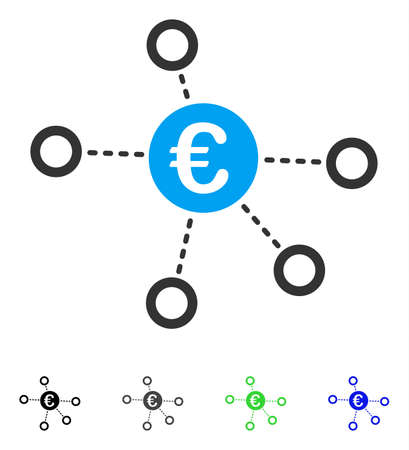 Euro Network flat vector pictogram. Flat icon style for application design. Illustration