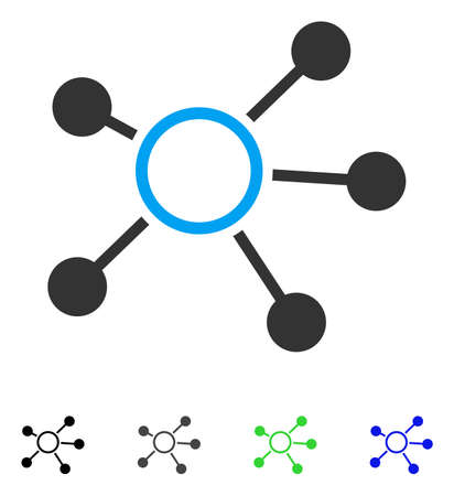 gray: Connections flat vector pictograph. Colored connections gray, black, blue, green icon variants. Flat icon style for web design.