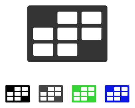 Calendar table flat pictogram.