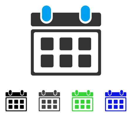Calendar flat illustration.