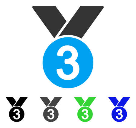 approved: Bronze Medal flat vector pictograph. Colored bronze medal gray, black, blue, green icon versions. Flat icon style for graphic design.
