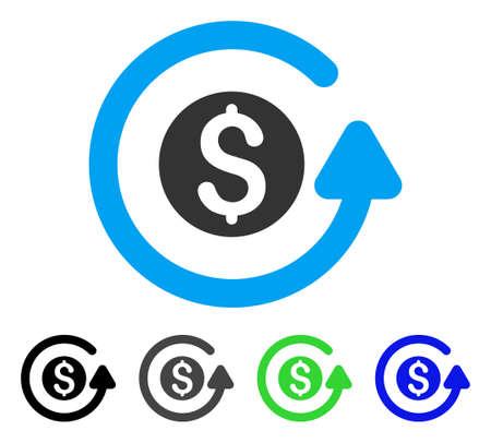 フラット ベクトル ピクトグラムを返金いたします。色は、グレー、黒、青、緑のピクトグラムの亜種を返金いたします。Web デザインのフラット ア