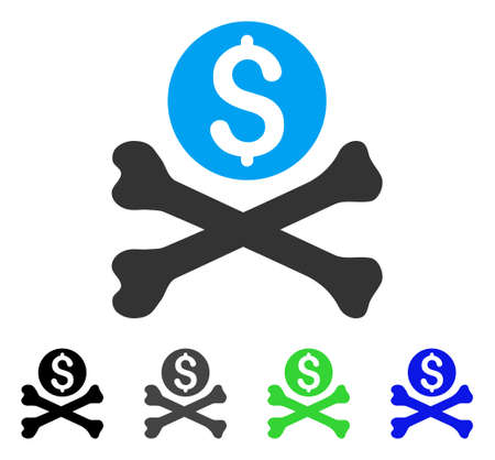 Mortal Debt flat vector pictogram. Colored mortal debt gray, black, blue, green icon variants. Flat icon style for graphic design.