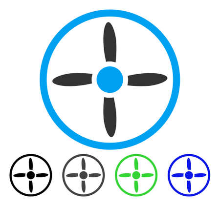 Air Screw flat vector pictogram. Colored air screw gray, black, blue, green pictogram variants. Flat icon style for application design. Illustration