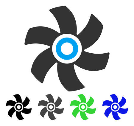 Rotor flat vector icon. Colored rotor gray, black, blue, green icon variants. Flat icon style for web design. Illustration