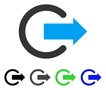 Cerrar sesión icono de vector plano. Logout de color gris, negro, azul, verde, variantes de iconos. Estilo de icono plano para el diseño de aplicaciones.