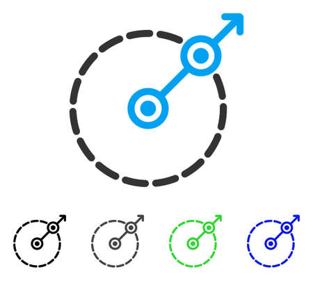 Round Area Exit flat vector pictogram. Colored round area exit gray, black, blue, green icon versions. Flat icon style for application design. Illustration