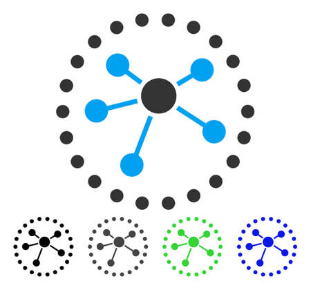 Links Diagram flat vector pictograph. Colored links diagram gray, black, blue, green icon variants. Flat icon style for application design.  イラスト・ベクター素材
