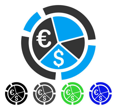 Currency diagram flat vector pictogram colored currency diagram currency diagram flat vector pictogram colored currency diagram gray black blue green ccuart Image collections