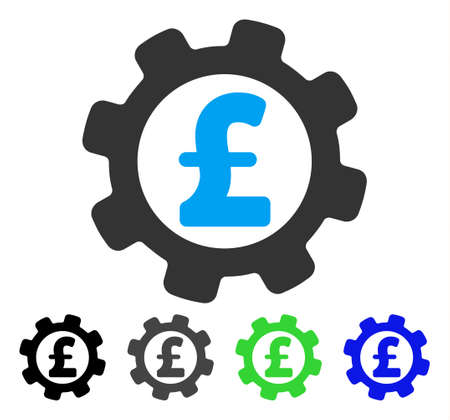 Development Pound Price flat vector pictogram. Colored development pound price gray, black, blue, green pictogram versions. Flat icon style for application design.