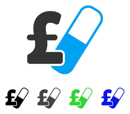 Farma Pound Business flat vector pictogram. Colored farma pound business gray, black, blue, green icon versions. Flat icon style for graphic design.