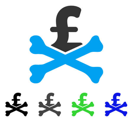 Mortal Pound Debt flat vector pictograph. Colored mortal pound debt gray, black, blue, green pictogram variants. Flat icon style for web design. Ilustrace
