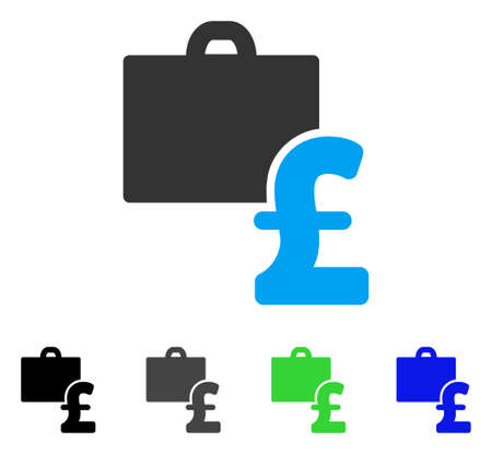 Pound Accounting flat vector pictogram. Colored pound accounting gray, black, blue, green pictogram versions. Flat icon style for application design.