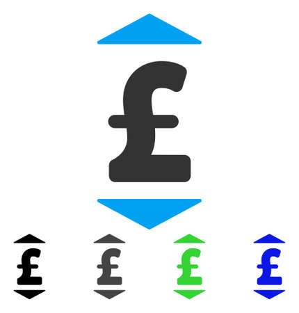 Pound Up Down flat vector pictograph. Colored pound up down gray, black, blue, green pictogram variants. Flat icon style for application design. Illustration