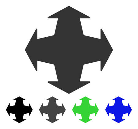 Directions flat vector pictograph. Colored directions gray, black, blue, green pictogram variants. Flat icon style for application design.