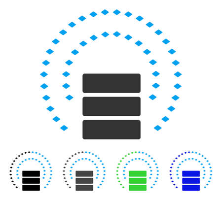Database Sphere Shield flat vector pictogram. Colored database sphere shield gray, black, blue, green pictogram versions. Flat icon style for web design.