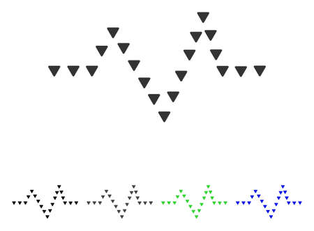 to pulsate: Dotted Pulse flat vector icon. Colored dotted pulse gray, black, blue, green pictogram versions. Flat icon style for web design.