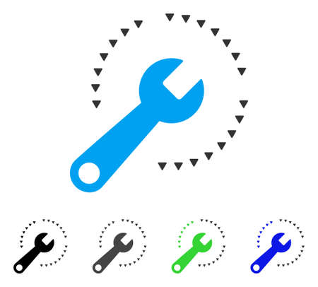 Configure flat vector icon. Colored configure gray, black, blue, green pictogram versions. Flat icon style for web design. Illustration