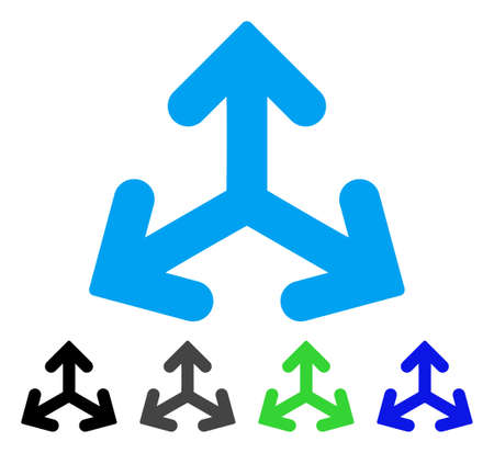 Direction Variants flat vector pictogram. Colored direction variants gray, black, blue, green icon versions. Flat icon style for web design.